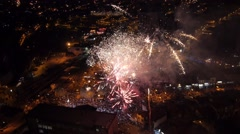 Fireworks aerial view Stock Footage