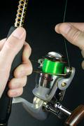 Modern Fishing Reel Stock Photos