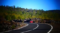 4K UHD Driving in Mt. Teide peak Pico del Teide National Park Tenerife island Stock Footage