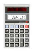 Stock Photo of Old calculator - deficit