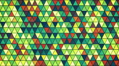 colorful glass triangles pattern seamless loop background 4k (4096x2304) - stock footage
