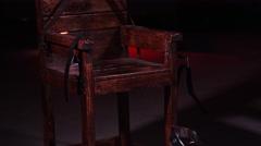 Electric Chair - Capital Punishment - Prison Death Sentence - stock footage