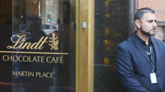 Lindt siege Sydney cafe reopens 11 4K Stock Footage