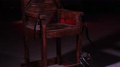 Electric Chair - Capital Punishment - Prison Death Sentence Stock Footage