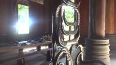 The Black House In Chiang Rai, Baan Dam Thailand Stock Footage
