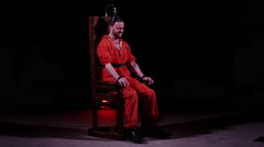 Electric Chair - Capital Punishment - Prison Death Sentence Stock Footage