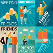 Friends Mini Poster Set Piirros