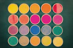 Colorful dyes Stock Photos