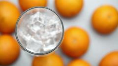 orange juice - stock footage