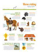 Jockey Infographics Set - stock illustration