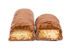 Caramel chocolate bar - stock photo