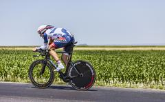 The Cyclist Adam Hansen - stock photo