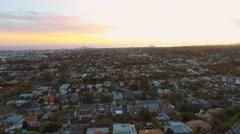 Bretwood sunset aerial pan 2.7K Stock Footage
