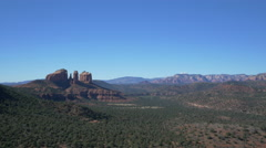 Stock Video Footage of Panoramic view of Red Rock State Park, Sedona