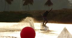 Slider Wakeboarding 180 4k Stock Footage