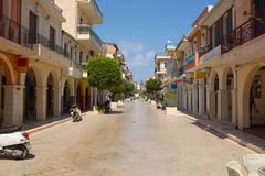 Street Zakynthos, Greece Stock Photos