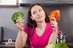 Choice of food - stock photo