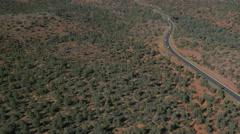 Driving on Highway 179, Arizona Stock Footage