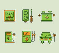 Ecological Icons Set Stock Illustration