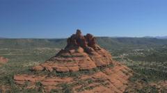 Best 4K view of Bell Rock in Arizona Stock Footage
