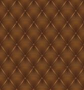 Brown leather upholstery seamless background Stock Illustration