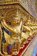 Demon in the temple bangkok asia Stock Photos