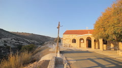 Small scenic old byzantine church Stock Footage