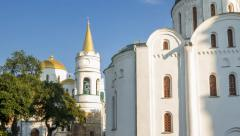 Hyper lapse of Ukrainian church Stock Footage