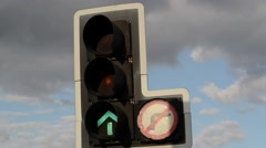 traffic light changing from green to red united kingdom - stock footage