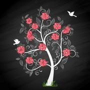 Memory tree - stock illustration