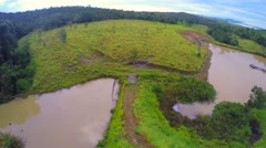 Aerial View of a Typical Farm in Goias, Brazil Stock Footage