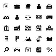 Mortgage and home loan icons on white background Stock Illustration