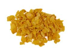 Stock Photo of Bunch of corn flake cereals on a white background