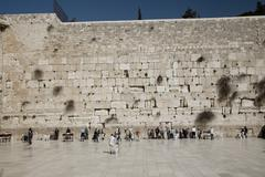 Holy Wailing Wall (Place for men) Stock Photos