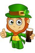 Little Leprechaun Character Stock Illustration