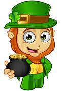 Little Leprechaun Character - stock illustration