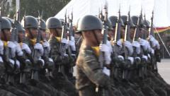 Armed Forces Day  - stock footage