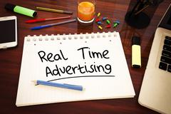 Real Time Advertising Stock Illustration