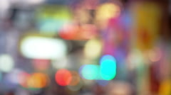 Abstract cityscape blurred background. Hong Kong - stock footage