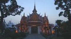 Ordination hall at the Wat Arun Temple in Bangkok, Thailand Stock Footage