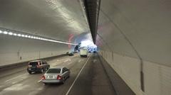 Treasure Island tunnels, San Francisco Stock Footage