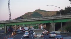 Freeway travel ,establishing sign Stock Footage