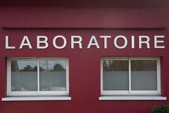 Vintage store of a laboratory - medical analysis Stock Photos