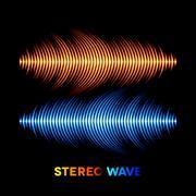 Stock Illustration of Stereo sound waveform