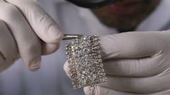 Polished diamonds inlay - stock footage