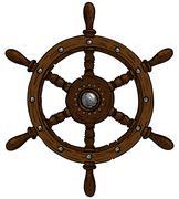Stock Illustration of marine theme steering wheel