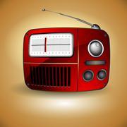 Old FM radio icon Stock Illustration