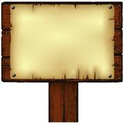 Stock Illustration of notice board