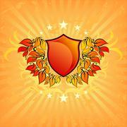 Ornamental shield Stock Illustration
