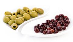 Stock Photo of Studio shot of olives on plate